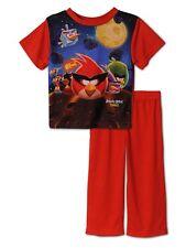 Angry Birds Boys Red 2 Piece Pajama Set Size 2T