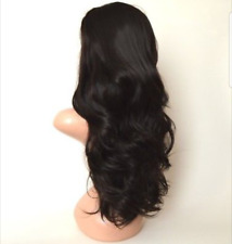Off Black Glueless Long Curly Invisible Lace Front Wig 004