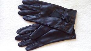 MORGAN & TAYLOR Soft Black Leather Gloves.