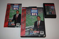 ESPN Sunday Night NFL Sega Genesis Video Game Complete in Box