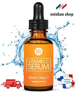 Le meilleur Bio Sérum Vitamine C + Acide Hyaluronique Aloe Vera Vitamine E 30ml