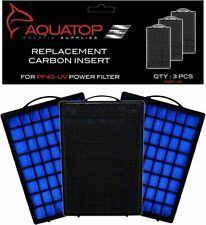 Aquatop Aquarium Carbon Cartridge for PF40-UV Hang On UV Filter 3pc