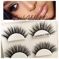 Wispy Mink Lashes Eyelashes 3D Flutter 3 pairs Makeup Extension • US SELLER