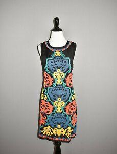 SHOSHANNA NEW $395 Black Terrades Embroidery Nadera Dress Size 8