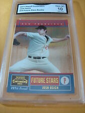 JOSH OSICH GIANTS 2011 PLAYOFF CONTENDERS FUTURE STARS ROOKIE RC # 14 GRADED 10