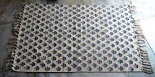 Indian Hand Block Print Rug persian rug turkish rug antique rug Kilim Dhurrie