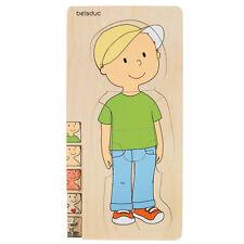 Beleduc 17129 Puzzle aus Holz / Lagenpuzzle Dein Körper Junge