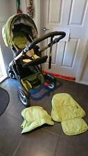 Green Britax Strider Compact Travel System with Infant carrier AND toddler seat!
