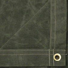 10' x 12' Canvas Tarp 21 oz Heavy Duty / Water Resistant -Olive Drab-Made in USA
