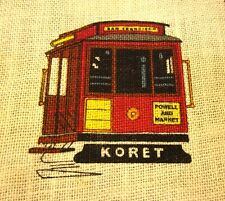 SAN FRANCISCO trolly Koret shopping tote bag Powell & Market cable car