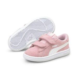 Puma Smash v2 SD V Inf Low Top Kinder Schuhe Sneaker Pink, Mädchen