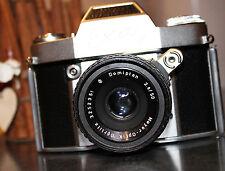 Ihagee Exa II (2) Cámara de cine cuerpo Domiplan 2.8 50mm Lente Gorlitz Meyer Optik