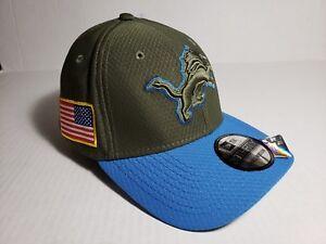Detroit Lions New Era 39THIRTY NFL Salute To Service  Flex Cap Hat size Large-XL