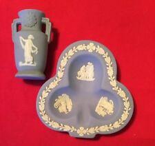 Vintage Wedgwood Jasperware Blue Cover Trinket Box