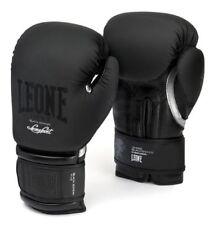 GUANTONI DA BOXE LEONE GN059  Black & White BOXE  KICK THAY MMA - 12OZ