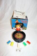 Mini Roulette Set Wheel Ball Chips Gambling Casino Game Tabletop Toy