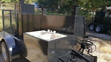 Big Foot Bbq Smoker w Sink Hot Cold Water System Grill Trailer Food Truck Mobile