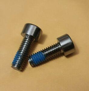 2 x Disc Brake Caliper Fixing Bolts Screws MTB Bicycle M6 18mm Steel, Hydraulic
