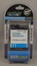 Digital Energy Battery and Charger Desktop Kit for Motorola BP6X