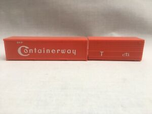 2 X Triang Hornby OO Gauge Freightliner Containers Red 20' 30' Containerway cti