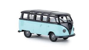 BREKINA 31842 VW T1b Samba Bus , Hellbalu / Noir, H0