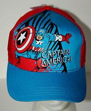 Marvel Comics Captain America & His Shield Comic Book Kids Cap Hat New Tags NOS