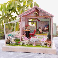 DIY Wooden Handmade Dollhouse Miniature Kit/LED -Back Garden&totoro/Furniture
