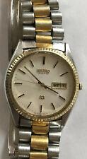 Vtg Seiko Quartz Japan 5Y23-8A69 A4 Watch #843439 Water Resistant 2 Colors