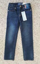 NWT Old Navy Boys Dark Blue Denim Jeans Straight Leg Slim Fit Adjust. Waist Sz 7