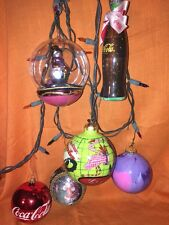 Six Collectible Ornaments Includes Coca Cola And Nancy Wolff