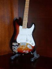 Mini Guitar BUDDY HOLLY Tribute Memorabilia PORTRAIT Free Stand GIFT Art
