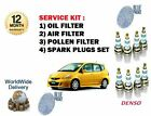 PARA Honda Jazz 1.2 2004-2008 Kit de mantenimiento Filtro polen aire ACEITE +