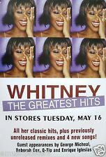 "WHITNEY HOUSTON ""THE GREATEST HITS"" U.S. PROMO POSTER HUNG UP AROUND L.A."