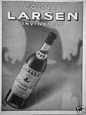 PUBLICITÉ 1941 COGNAC LARSEN INVINCIBLE - ADVERTISING