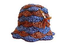 RARE Prada DRAGONFLY RAFIA Bucket Hat PRIMAVERA 2012 Bi-colour TAGLIA SMALL