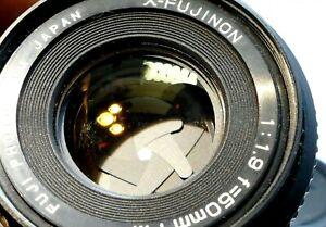 Fuji Fujica 50mm f1.9 FM Manual Focus Lens ( with some fungus webbing inside)