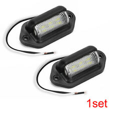 2Pieces 6 LED Surface License Plate Light Tag Interior Step Trailer Truck RV 12V