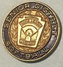 VTG Senior Little League District Softball Lapel Pin Tac Official Baseball BLUE