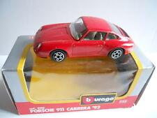 Modellino Auto Model Car BURAGO 1:43 Die Cast PORSCHE 911 CARRERA '93  [MV16]
