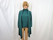 Dialogue 2 Piece Women Sweater And Open Cardigan Set Size Medium Green