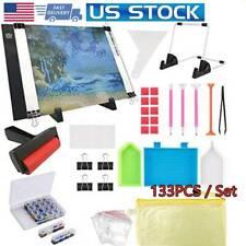 133PCS Diamond Painting LED Light Pad Kit Diamond Art Light Board 5D Painting US