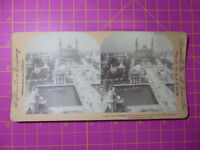 Antique Stereoscope Photograph - Trocadero Palace, Paris Expo - 1900 Stereoview