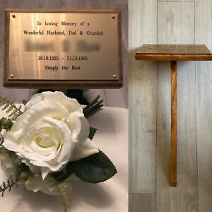 memorial stake with free engraved plaque choice in lengths hand made tree marker