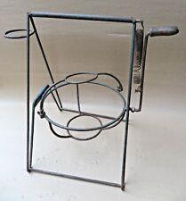 Antique Barrel butter churn replica Spring fitted Hand Crank Iron wire bands