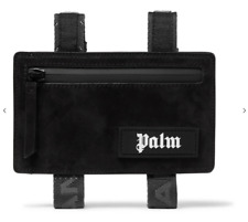 Palm angels Suede Armbands Black Logo