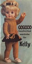 Dolls Skirt, Sweater , Tights And Headband  Knitting Pattern