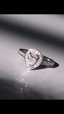 Pear Shaped Diamond stone  .46cts Colour F. GIA Certified, (slight chip)