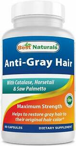 Anti Gray Hair by Best Naturals, 60 capsule 1 pack