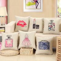 Mode Lèvres Rouges Housse de Coussin Maison Sofa Decor Taies Oreiller Sans Noyau
