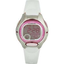 Casio LW-200-7AV Pink Womens Digital Chronograph Sport Watch w/ White Resin Band